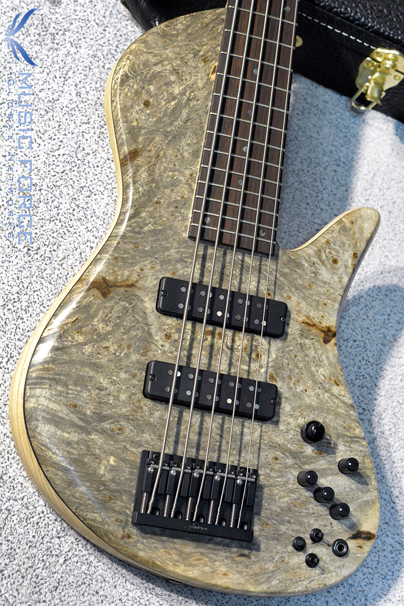 Fodera Custom Emperor II Elite 5-Buckeye Burl Top w/Indian Rosewood(2017년산/신품)