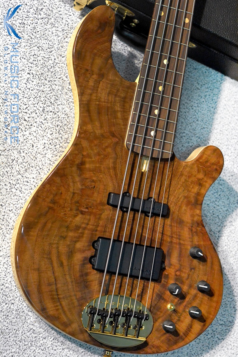 Lakland US Custom 55-94 Deluxe Walnut Burl Top w/Rosewood FB, Black Painted Headstock & Black Gold HW(2017년산/신품)