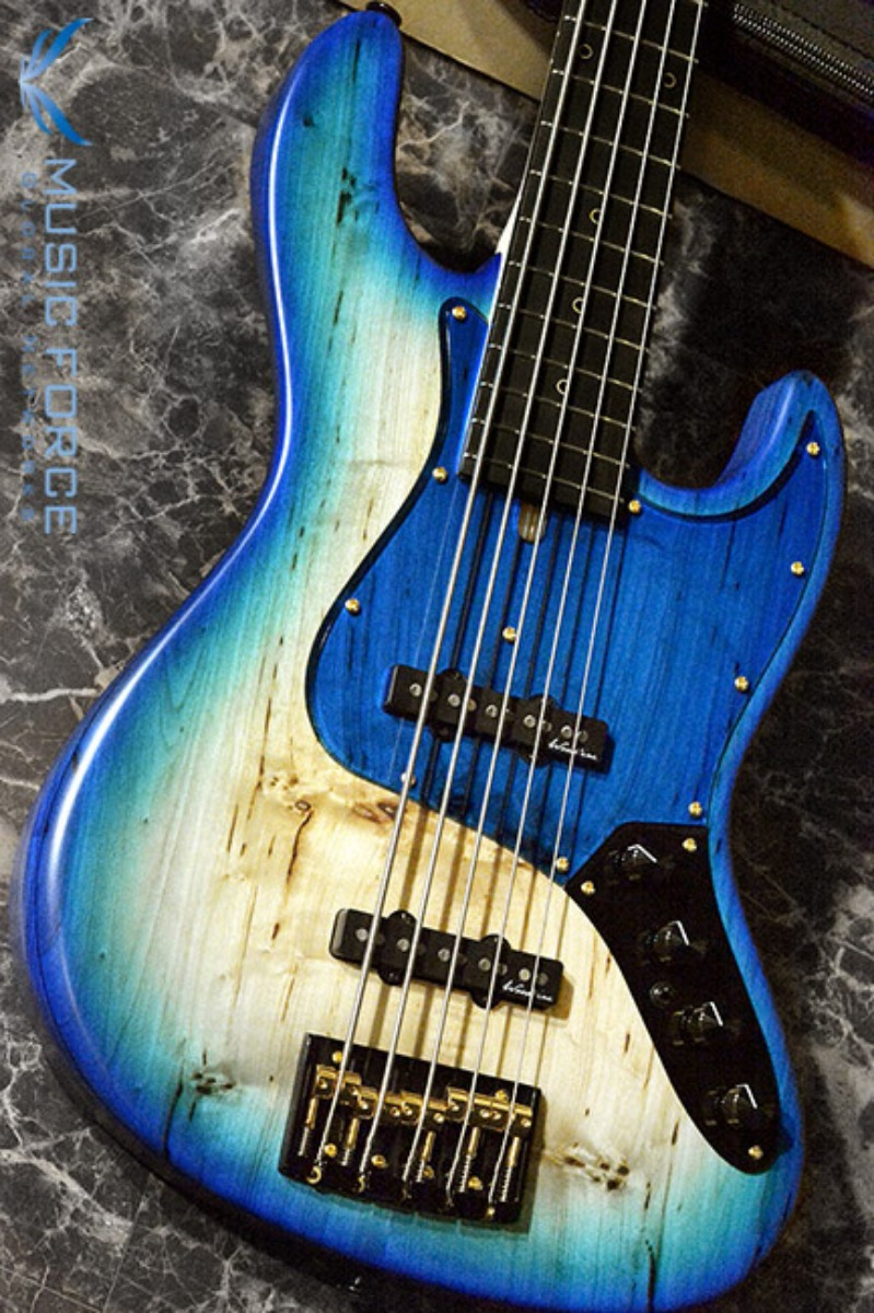 [특별세일] Bacchus Japan Handmade Series Exotic Wood Custom Woodline 517(5현) Active/Poplar Burl Top-Blue Burst Finish(2018년산/전세계8대한정판/신품)