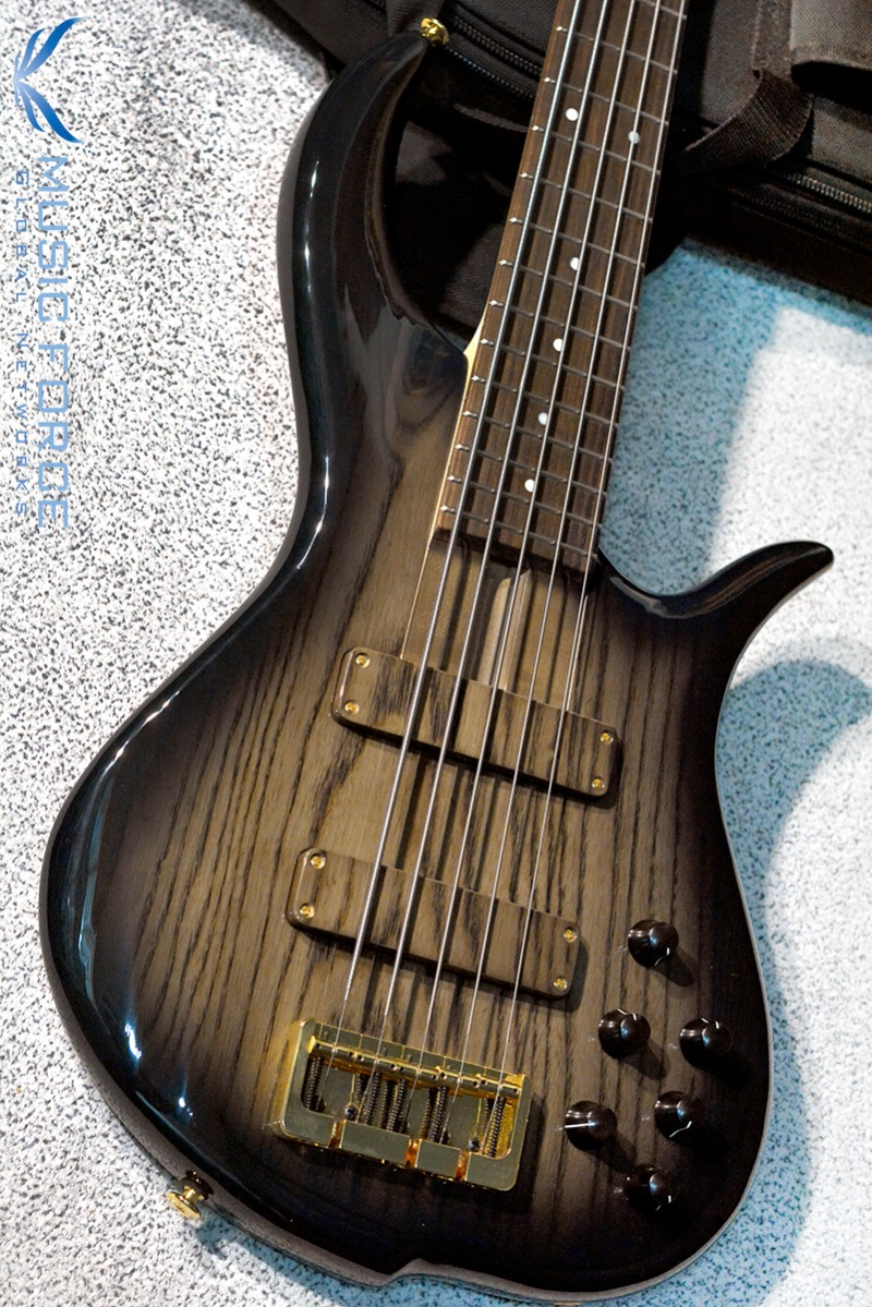 [이월상품창고대방출!!!] F-Bass BN5 Charcoal Burst Gloss-Black Grain w/Macassar Ebony FB & Gold HW(2015년산/신품)