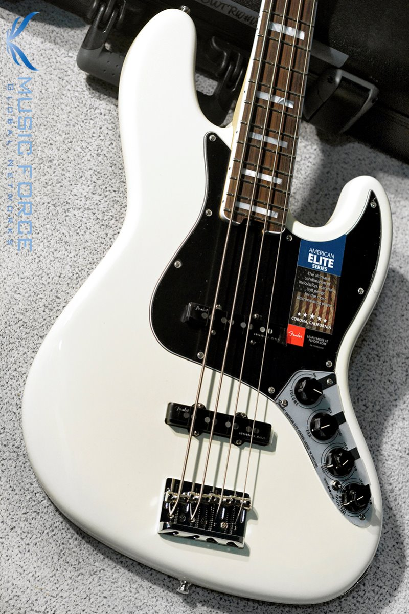 Fender USA American Elite Jazz Bass-Olympic White w/Rosewood FB (2016년산/신품)