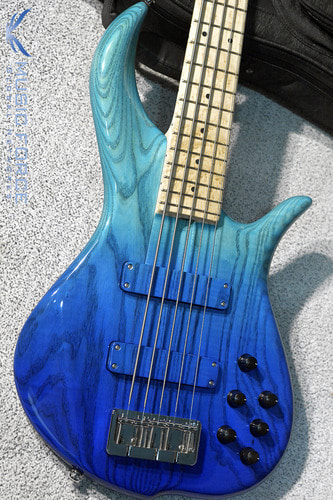 F-Bass BN5 Aqua Blue Fade Gloss w/Birdseye Maple FB(2018년산/신품)